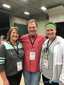 ​25TH DYC—Margie Black, Fr. J. Friedel, and Mary Black, all from Joplin, enjoyed the 25th Annual Diocesan Youth Conference held March 23-25 in West Plains. (Submitted photo)​
