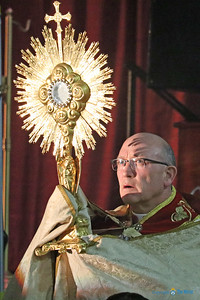 Bishop Edward Rice led Eucharistic procession and adoration. (Photo by J.B. Kelly/The Mirror)