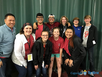A group of campers  and staff from session 1C of Camp Re-New-All. (Photo by Margie Black/The Mirror)