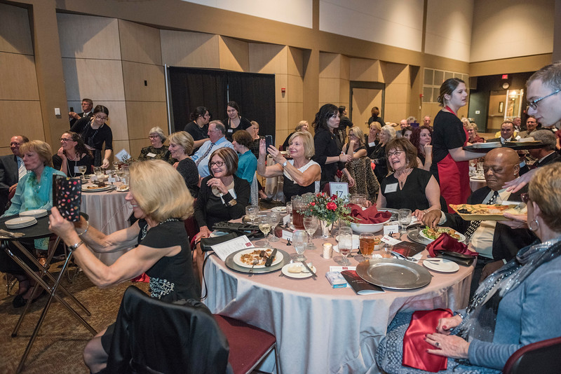 Distinguished Alumni are recognized during an evening dinner on Friday, March 9, 2018 in Chico, Calif.  (Jason Halley/University Photographer/CSU Chico)