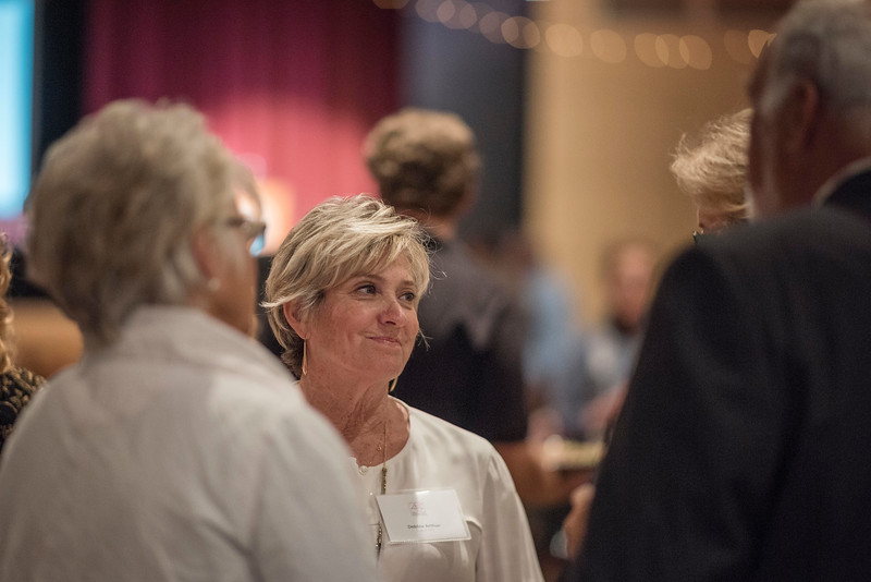 Debbie Arthur and guests attends the Distinguished Alumni dinner on Friday, March 9, 2018 in Chico, Calif.  (Jason Halley/University Photographer/CSU Chico)