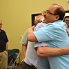 Fr. Quang congratulates Fr. Ed