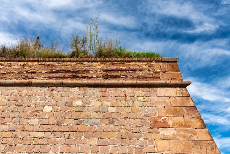 Impenetrable Walls of Montjuïc Castle - Barcelona,Spain