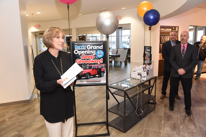 DARVIN Furniture Jeep Giveaway drawing, March 26, 2018