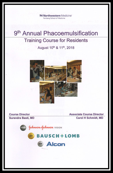 2018 Phacoemulsification Training Course, Wet Labs, August 11, 2018
