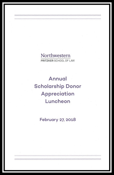 2018 Scholarship Donor Appreciation Luncheon, February 27, 2018