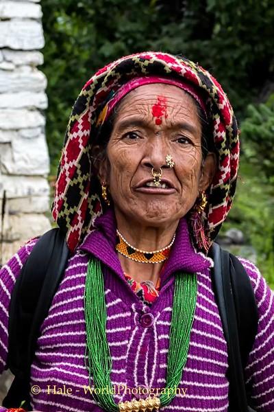 Female Pilgrim At Muktinath