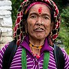 Female Pilgrim At Muktinath