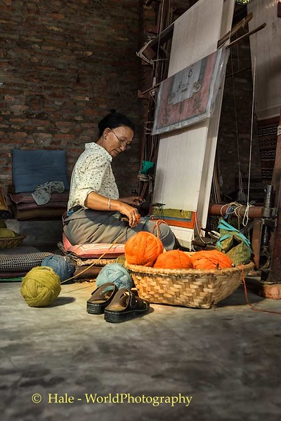Tibetan Refugee Carpet Weaver