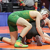 Providence Catholic's Cole Smith grapples with Marmion Academy's Brad Gross on Friday, Feb. 16, 2018, at the State Farm Center during Class 3A State Wrestling Semifinals in Champaign, Ill.