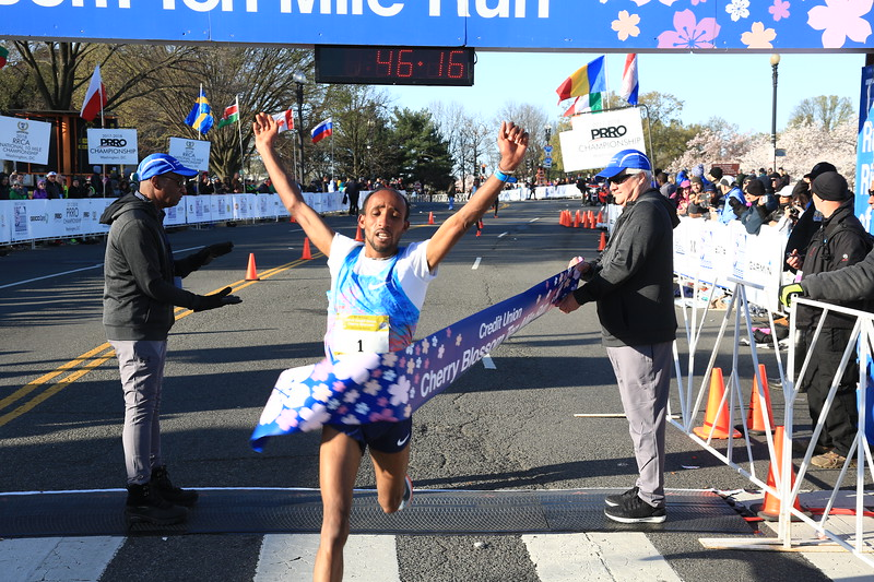 2018 Credit Union Cherry Blossom Finish Line - Photos by Bob Burgess