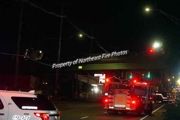 Providence- 3rd Alarm Tanker Roll Over, Rt 95@ Allens, 10/03/2018
