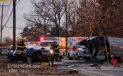 02-08-2018, Fatal MVC with Entrapment. Vineland, Cumberland County NJ. N. Mill Rd. iao Industrial Way.