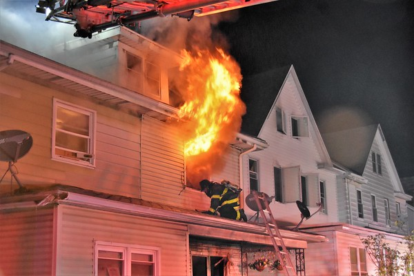 Hazleton city 139 fully involved structure fire 320-26 Carleton ave 7-4-18