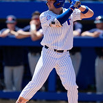 University of Florida Gators infielder Deacon Liput at the plate as the Gators win the series over the Auburn Tigers with a 12-3 game three win.  April 28th, 2018. Gator Country photo by David Bowie.