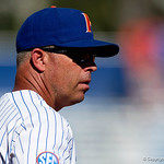 University of Florida Gators baseball head coach Kevin O'Sullivan as the Gators win the series over the Auburn Tigers with a 12-3 game three win.  April 28th, 2018. Gator Country photo by David Bowie.