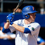 University of Florida Gators infielder/outfielder Shane Shifflett at the plate as the Gators win the series over the Auburn Tigers with a 12-3 game three win.  April 28th, 2018. Gator Country photo by David Bowie.