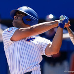 University of Florida Gators outfielder Nelson Maldonado swings away at a pitch as the Gators win the series over the Auburn Tigers with a 12-3 game three win.  April 28th, 2018. Gator Country photo by David Bowie.