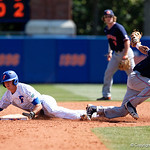 University of Florida Gators infielder/outfielder Blake Reese slides safely into second base as the Gators win the series over the Auburn Tigers with a 12-3 game three win.  April 28th, 2018. Gator Country photo by David Bowie.
