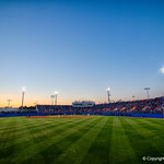 McKethan Stadium as the #2 ranked Gators defeat the #7 Florida State Seminoles 12-6 at McKethan Stadium.  February 16th, 2017. Gator Country photo by David Bowie.