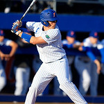 University of Florida Gators catcher/first baseman JJ Schwarz at the plate as the #2 ranked Gators defeat the #7 Florida State Seminoles 12-6 at McKethan Stadium.  February 16th, 2017. Gator Country photo by David Bowie.