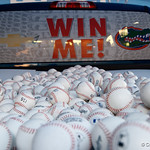 A Ford Truck that is being given away sits out front of the stadium as the #2 ranked Gators defeat the #7 Florida State Seminoles 12-6 at McKethan Stadium.  February 16th, 2017. Gator Country photo by David Bowie.