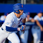University of Florida Gators outfielder Wil Dalton at the plate batting as the #2 ranked Gators defeat the #7 Florida State Seminoles 12-6 at McKethan Stadium.  February 16th, 2017. Gator Country photo by David Bowie.
