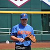 University of Florida freshman Brady Smith during the Florida Gators first practice at TD Ameritrade park for the 2018 College World Series.