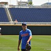 University of Florida freshman infielder Brady McConnell during the Florida Gators first practice at TD Ameritrade park for the 2018 College World Series.