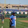 University of Florida freshman Jordan Butler during the Florida Gators first practice at TD Ameritrade park for the 2018 College World Series.
