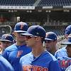 University of Florida outfielder Wil Dalton during the Florida Gators first practice at TD Ameritrade park for the 2018 College World Series.