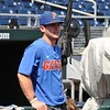 University of Florida infielder Deacon Liput during the Florida Gators first practice at TD Ameritrade park for the 2018 College World Series.