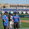 University of Florida freshmen Jordan Butler and Brady Smith  during the Florida Gators first practice at TD Ameritrade park for the 2018 College World Series.
