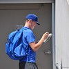 University of Florida pitcher Jack Leftwitch signs an autograph during the Florida Gators first practice at TD Ameritrade park<br /> for the 2018 College World Series.