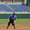 University of Florida infielder Jonathan India fields a ball during the Florida Gators first practice at TD Ameritrade park for the 2018 College World Series.