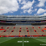 Ben Hill Griffin Stadium as the Gators walk into and across Steve Suprrier Field at  Ben Hill Griffin Stadium during Gator Walk prior to the 2018 Orange and Blue Debut.  April 14th, 2018.  Gator Country photo by David Bowie.