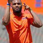University of Florida Gators defensive back Jeawon Taylor as the Gators walk into and across Steve Suprrier Field at  Ben Hill Griffin Stadium during Gator Walk prior to the 2018 Orange and Blue Debut.  April 14th, 2018.  Gator Country photo by David Bowie.