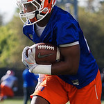 University of Florida Gators running back Iverson Clement as the Gators run drills during the first day 2018 spring practices at Sanders Field at the Universitu of Florida.  March 16th, 2018.  Gator Country photo by David Bowie.