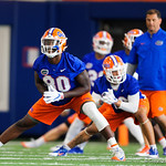 University of Florida Gators tight end C'yontai Lewis as the Gators run drills during the first day 2018 spring practices at Sanders Field at the Universitu of Florida.  March 16th, 2018.  Gator Country photo by David Bowie.