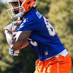 University of Florida Gators wide receiver Tyrie Cleveland as the Gators run drills during the first day 2018 spring practices at Sanders Field at the Universitu of Florida.  March 16th, 2018.  Gator Country photo by David Bowie.