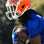 University of Florida Gators wide receiver Dre Massey as the Gators run drills during the first day 2018 spring practices at Sanders Field at the Universitu of Florida.  March 16th, 2018.  Gator Country photo by David Bowie.