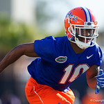 University of Florida Gators wide receiver Josh Hammond as the Gators run drills during the first day 2018 spring practices at Sanders Field at the Universitu of Florida.  March 16th, 2018.  Gator Country photo by David Bowie.
