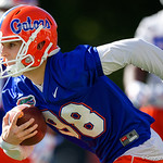 University of Florida Gators kicker Jorge Powell as the Gators run drills during the first day 2018 spring practices at Sanders Field at the Universitu of Florida.  March 16th, 2018.  Gator Country photo by David Bowie.