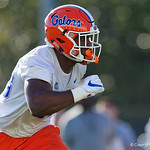 University of Florida Gators linebacker Kylan Johnson as the Gators run drills during the first day 2018 spring practices at Sanders Field at the Universitu of Florida.  March 16th, 2018.  Gator Country photo by David Bowie.