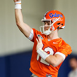 University of Florida Gators quarterback Jake Allen as the Gators run drills during the first day 2018 spring practices at Sanders Field at the Universitu of Florida.  March 16th, 2018.  Gator Country photo by David Bowie.
