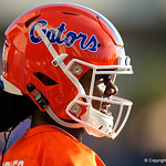 University of Florida Gators quarterback Emory Jones as the Gators run drills during the first day 2018 spring practices at Sanders Field at the Universitu of Florida.  March 16th, 2018.  Gator Country photo by David Bowie.