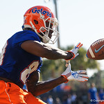 University of Florida Gators wide receiver Rick Wells as the Gators run drills during the first day 2018 spring practices at Sanders Field at the Universitu of Florida.  March 16th, 2018.  Gator Country photo by David Bowie.