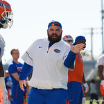 as the Gators run drills during the first day 2018 spring practices at Sanders Field at the Universitu of Florida.  March 16th, 2018.  Gator Country photo by David Bowie.