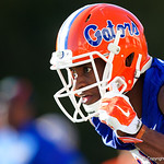 University of Florida Gators wide receiver Van Jefferson as the Gators run drills during the first day 2018 spring practices at Sanders Field at the Universitu of Florida.  March 16th, 2018.  Gator Country photo by David Bowie.