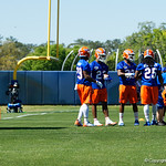 Florida Gators running back recruit Trey Sanders watches on as the Gators run drills during the second day of 2018 spring practices at Sanders Field at the University of Florida.  March 17th, 2018.  Gator Country photo by David Bowie.